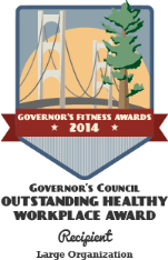 Governor's Council outstanding healthy workplace award. Receipient Large Organization